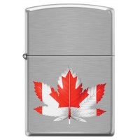 Leaf Lighter, #200 FLAG OF CANADA DOUBLE LEAF CHROME