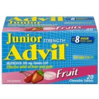 Advil Junior Strength Fruit 20's - Minimum Purchase QTY of 4 Units