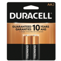 Duracell Coppertop AA2 pack - Minimum Purchase QTY of 4 Units