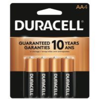 Duracell Coppertop AA4 pack - Minimum Purchase QTY of 4 Units