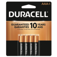 Duracell Coppertop AAA 4 pack - Minimum Purchase QTY of 4 Units
