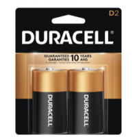 Duracell Coppertop D 2 Pack - Minimum Purchase QTY of 4 Units