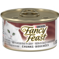 Fancy Feast Chunks Beef In Gravy  24x85g