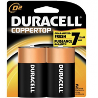 Duracell Coppertop D 2 Pack(6's)
