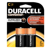 Duracell Coppertop C 2Pack